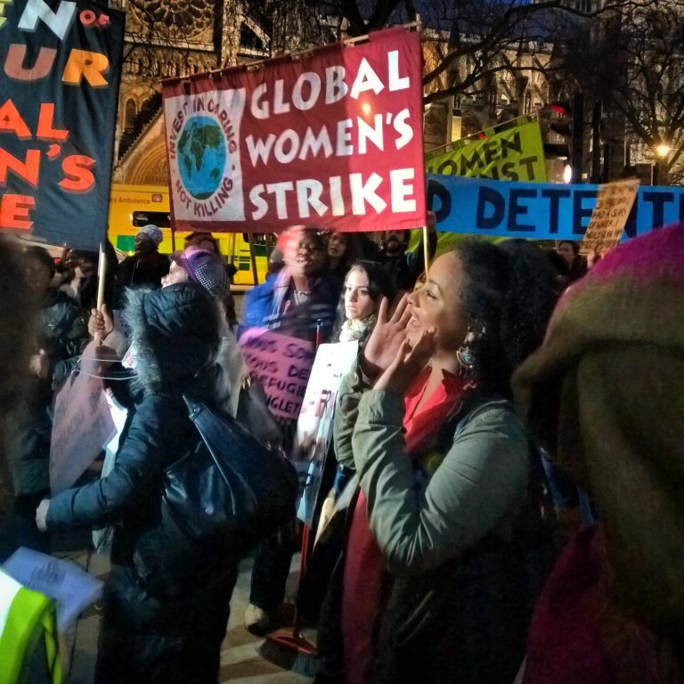 Global Women's Strike at the Stop Trump Rally